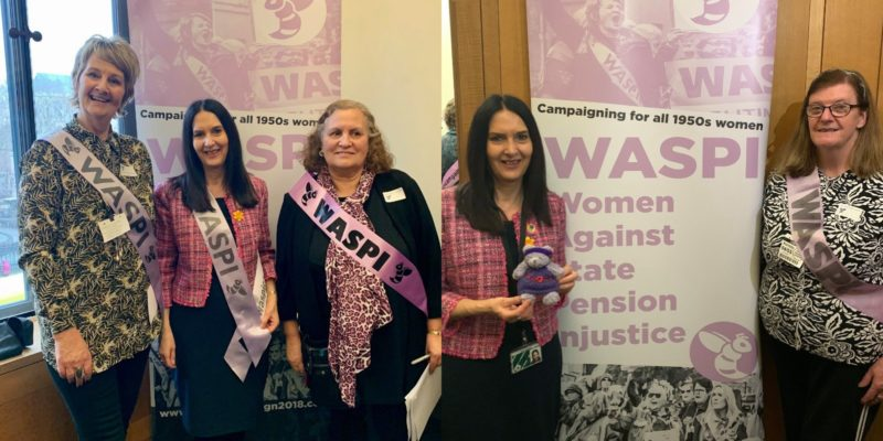 Margaret Ferrier MP with WASPI campaigners